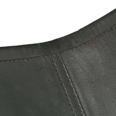 vidaXL Išskleidžiama kėdė, pilka, tikra oda[7/14]