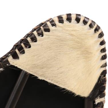 vidaXL Chaise papillon Noir et blanc Cuir véritable de chèvre[5/12]