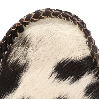 vidaXL Chaise papillon Noir et blanc Cuir véritable de chèvre[6/12]
