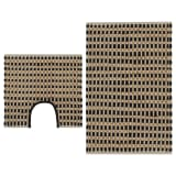 vidaXL Hand-Woven Jute Bathroom Mat Set Fabric Natural and Black