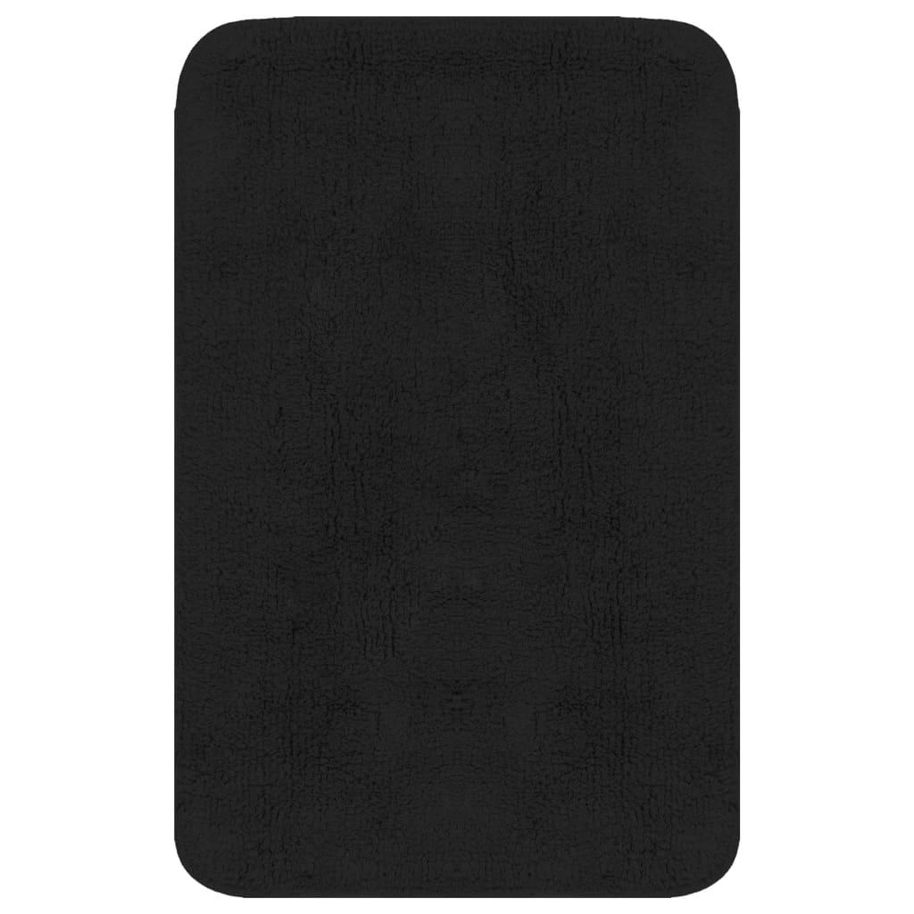 vidaXL Sada koupelnových předložek 3 kusy textilní antracitová