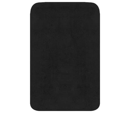 vidaXL Vonios kilimėlių rinkinys, 3d., antracito spalvos, audinys[2/5]
