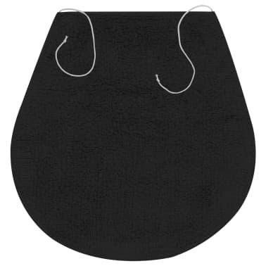vidaXL Vonios kilimėlių rinkinys, 3d., antracito spalvos, audinys[4/5]