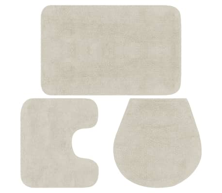 Vidaxl Bathroom Mat Set 3 Piece Fabric