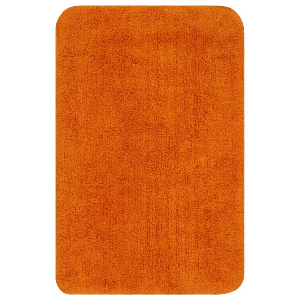 vidaXL Sada koupelnových předložek 3 kusy textilní oranžová