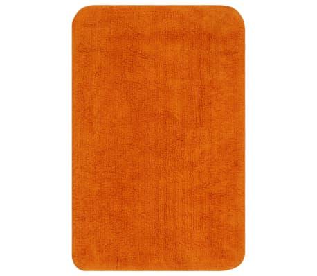 vidaXL Vonios kilimėlių rinkinys, 3d., oranžinis, audinys[2/5]