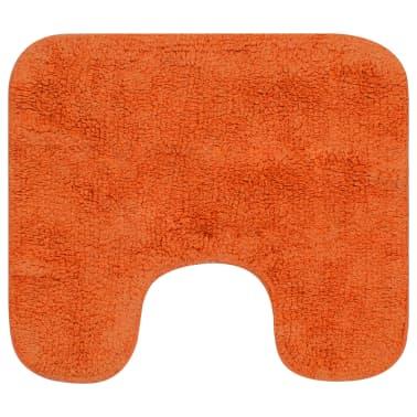 vidaXL Vonios kilimėlių rinkinys, 3d., oranžinis, audinys[3/5]