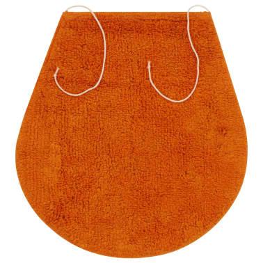 vidaXL Vonios kilimėlių rinkinys, 3d., oranžinis, audinys[4/5]