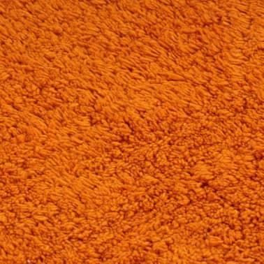 vidaXL Vonios kilimėlių rinkinys, 3d., oranžinis, audinys[5/5]