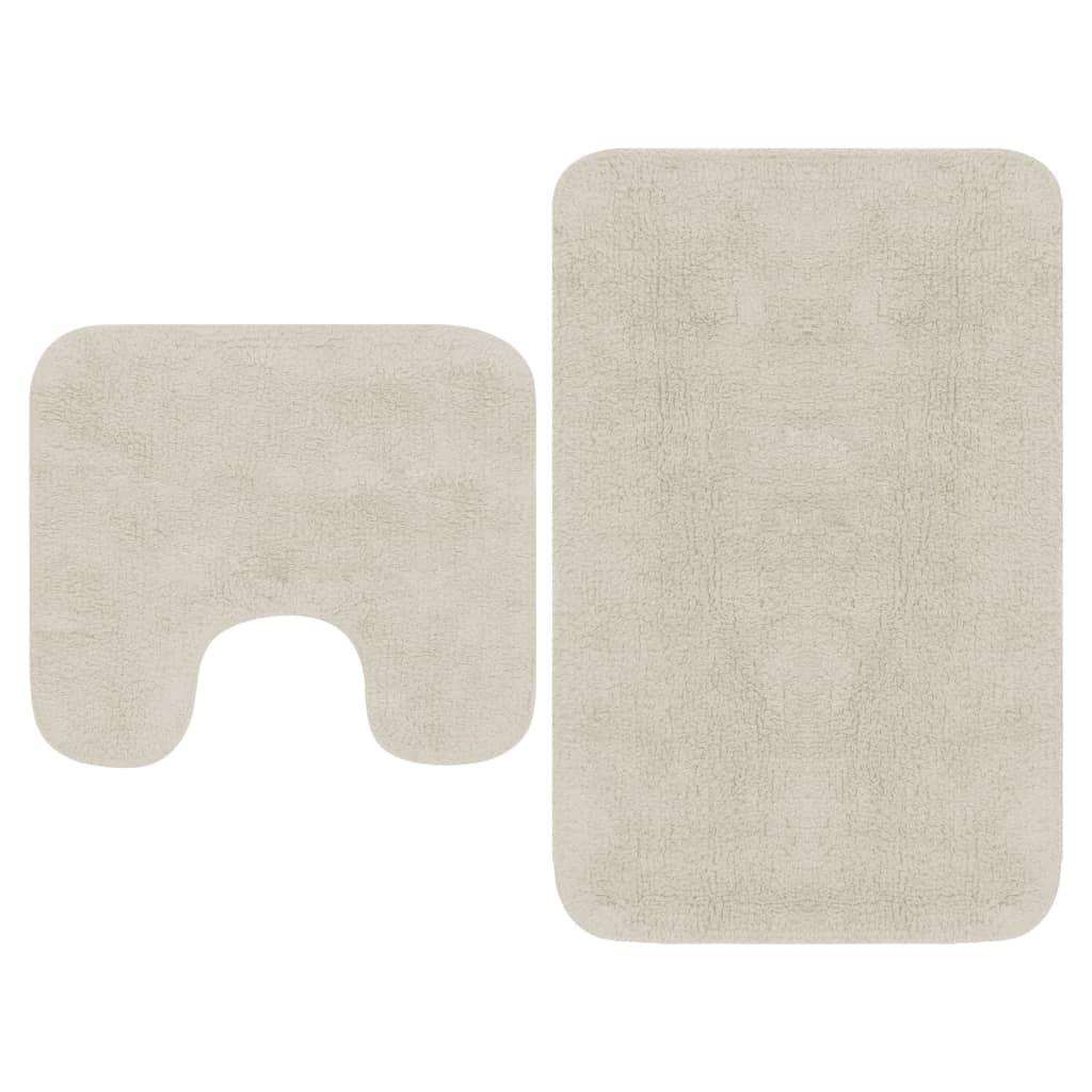 Sada koupelnových předložek 2 kusy textilní bílá