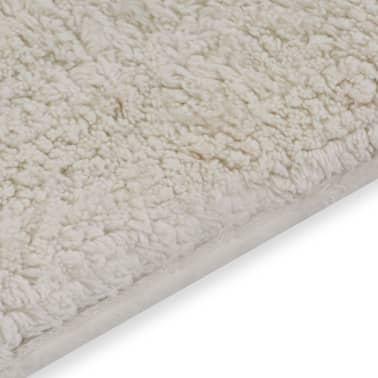 vidaXL Jeu de tapis de salle de bain 2 pcs Tissu Blanc[4/5]