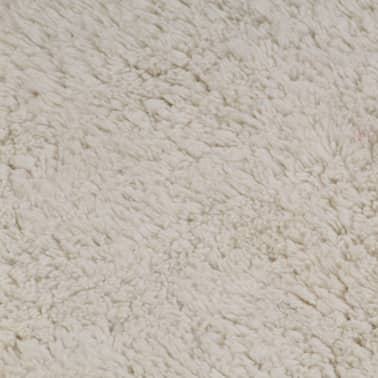 vidaXL Jeu de tapis de salle de bain 2 pcs Tissu Blanc[5/5]