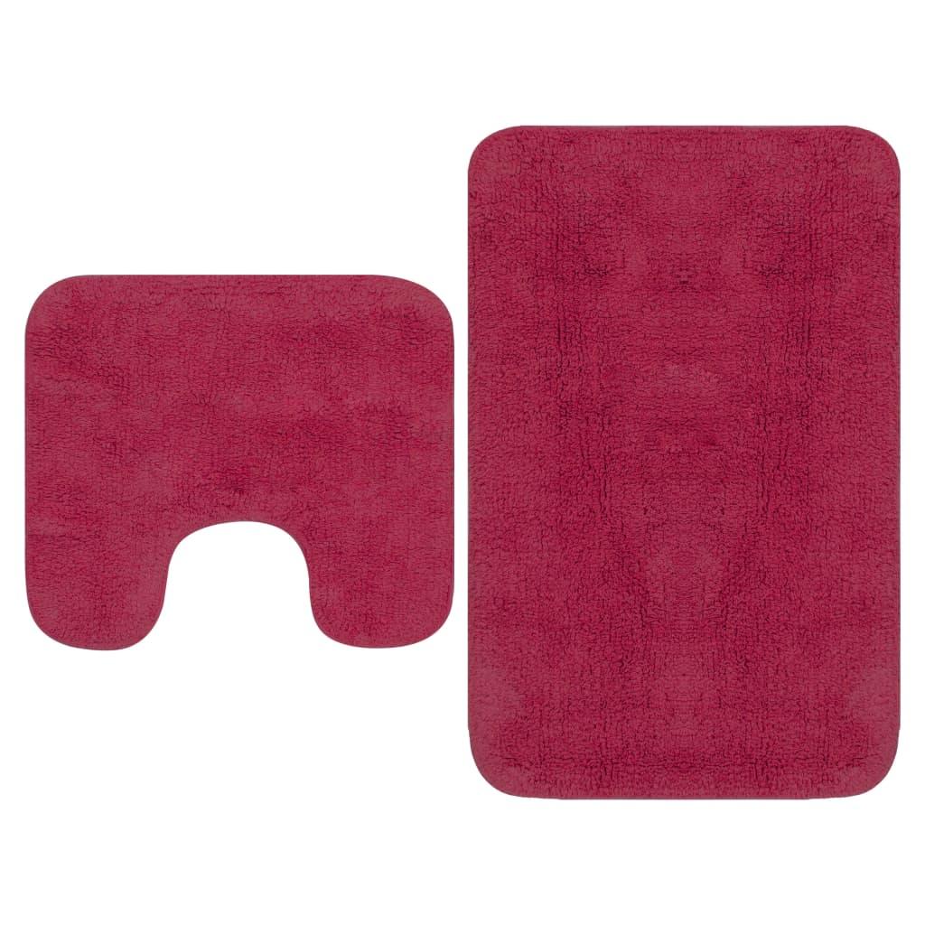 Sada koupelnových předložek 2 kusy textilní fuchsiová