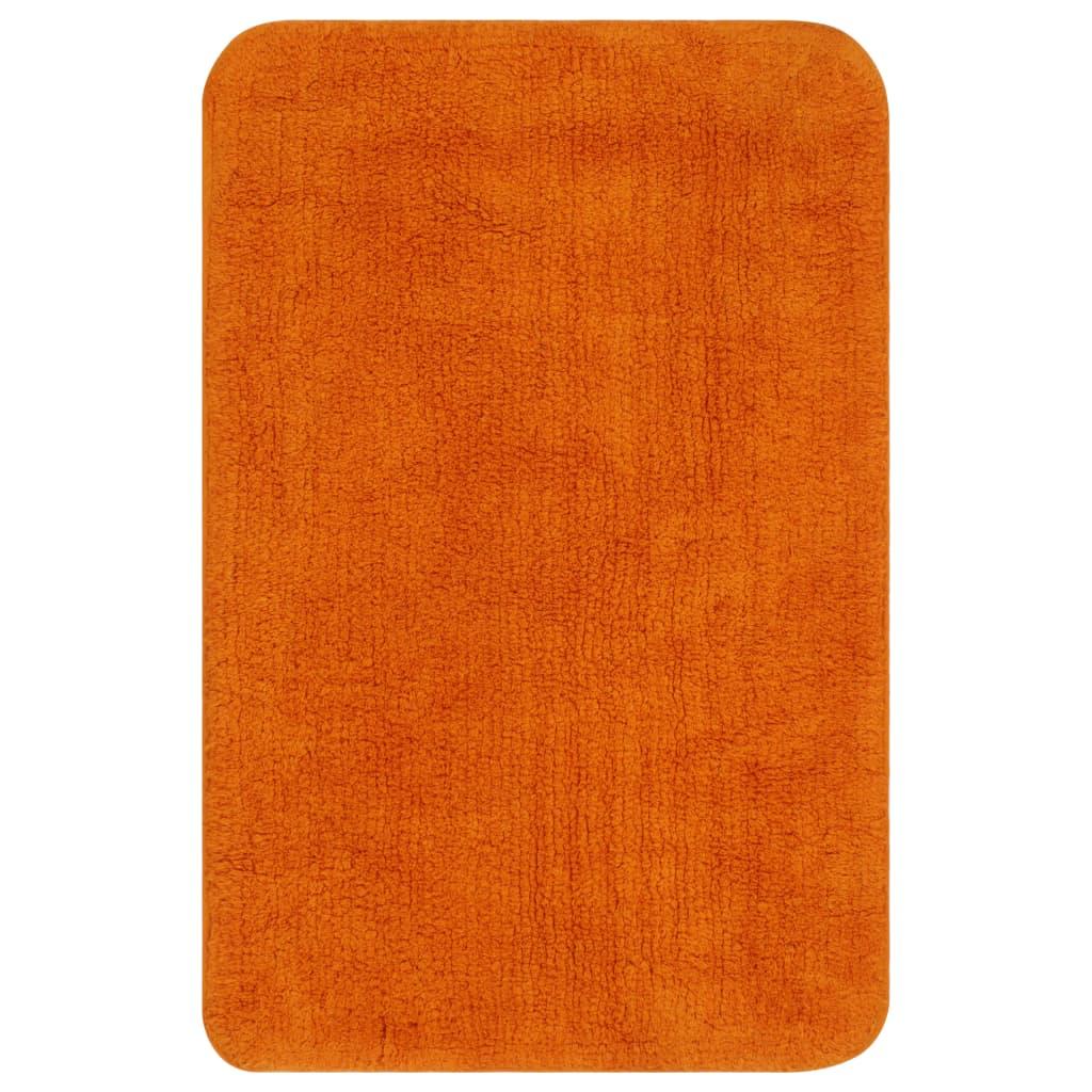 vidaXL Sada koupelnových předložek 2 kusy textilní oranžová
