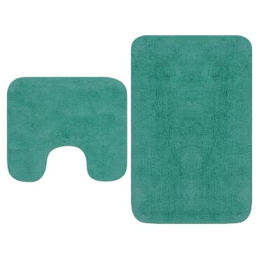 vidaXL Vonios kilimėlių rinkinys, 2d., audinys, turkio spalvos[1/5]
