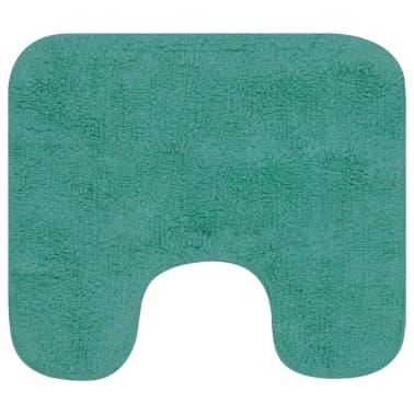 vidaXL Vonios kilimėlių rinkinys, 2d., audinys, turkio spalvos[3/5]