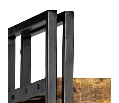 vidaXL Knygų spinta su 5 lent., mango mediena ir plienas, 90x30x180cm[4/16]
