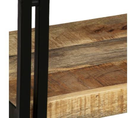 vidaXL bogreol 5 hylder massivt mangotræ og stål 90 x 30 x 180 cm[6/16]