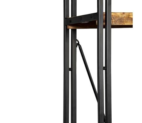 vidaXL Knygų spinta su 5 lent., mango mediena ir plienas, 90x30x180cm[8/16]