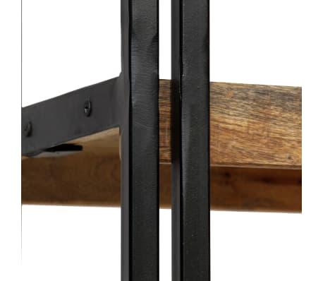vidaXL Knygų spinta su 5 lent., mango mediena ir plienas, 90x30x180cm[9/16]