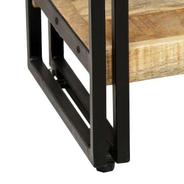 vidaXL Knygų spinta su 5 lent., mango mediena ir plienas, 90x30x180cm[5/16]