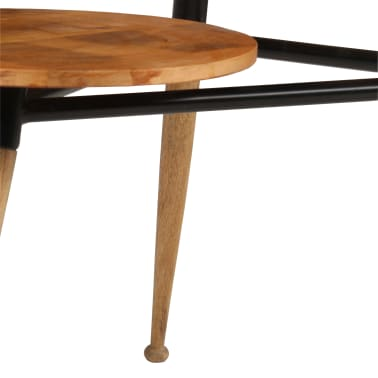 vidaXL Coffee Table Solid Mango Wood and Steel 89x77x52 cm[11/18]