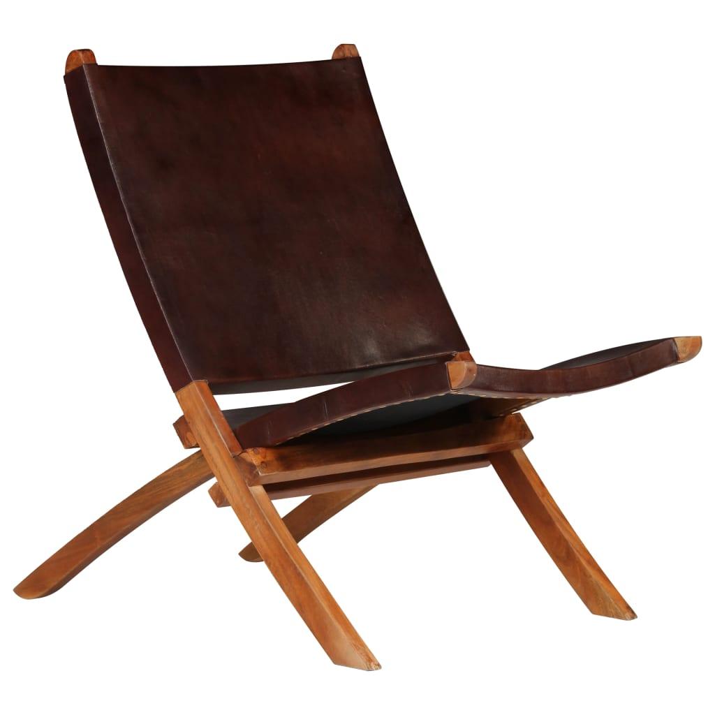 Kokkupandav tool, pruun, ehtne nahk