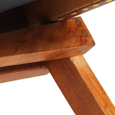 vidaXL Chaise de relaxation pliable Marron Cuir véritable[10/16]