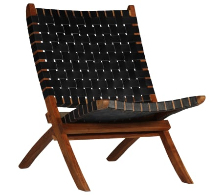 This soft and comfortable genuine leather chair has a rustic design that's all the rage right now. It will look great not only in your living room at home but also in your outdoor living space.