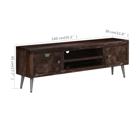 "vidaXL TV Cabinet Solid Reclaimed Wood 55.1""x11.8""x17.7""[15/15]"