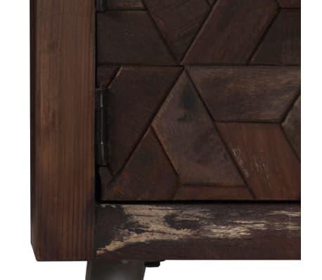 vidaXL TV spintelė, masyvi perdirbta mediena, 140x30x45cm[5/15]