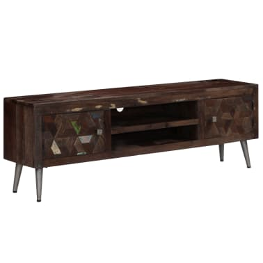 vidaXL TV spintelė, masyvi perdirbta mediena, 140x30x45cm[11/15]
