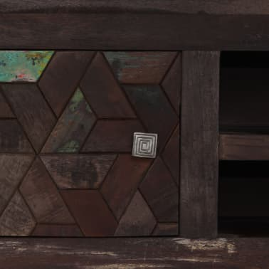 vidaXL TV spintelė, masyvi perdirbta mediena, 140x30x45cm[8/15]