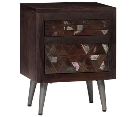 vidaXL Noptieră, lemn masiv reciclat, 40 x 30 x 50 cm