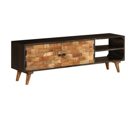 vidaXL Móvel de TV em madeira de mangueira maciça 140x30x45 cm