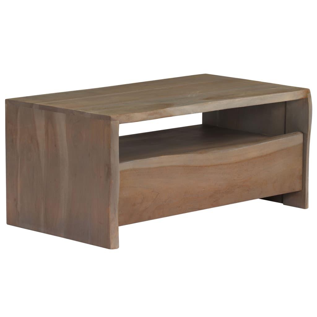 Salontafel met natuurlijke rand 90x50x40 cm acaciahout grijs