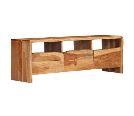 vidaXL TV-bänk massivt akaciaträ levande kanter 120x35x40 cm