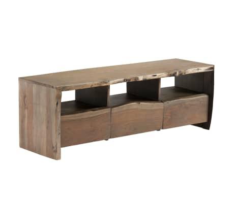 vidaXL TV omarica iz trdnega akacijevega lesa živi robovi 120x35x40 cm