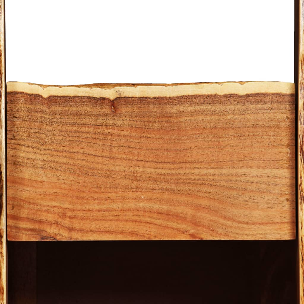 vidaXL Wijnrek met natuurlijke rand 40x40x110 cm massief acaciahout