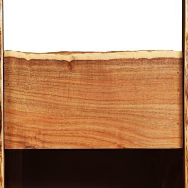 vidaXL Stojak na wino, akacja z naturalną krawędzią, 40x40x110 cm[4/14]