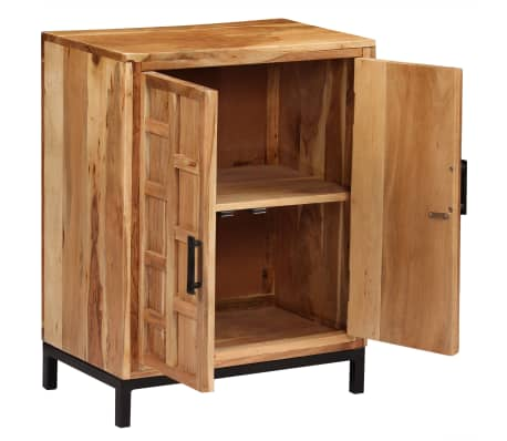 vidaXL Komoda, masyvi akacijos medienos, 60x35x76cm, ruda[3/16]