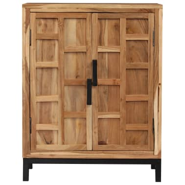 vidaXL Komoda, masyvi akacijos medienos, 60x35x76cm, ruda[2/16]