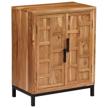 vidaXL Komoda, masyvi akacijos medienos, 60x35x76cm, ruda[12/16]