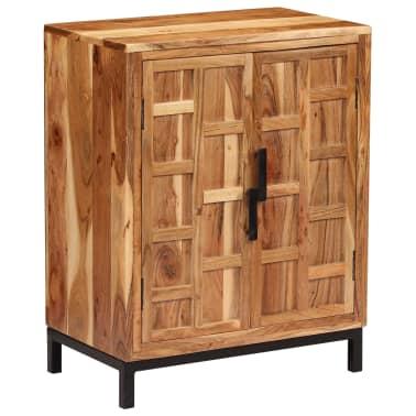 vidaXL Komoda, masyvi akacijos medienos, 60x35x76cm, ruda[13/16]