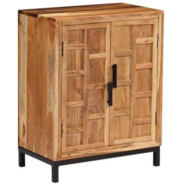 vidaXL Komoda, masyvi akacijos medienos, 60x35x76cm, ruda[14/16]