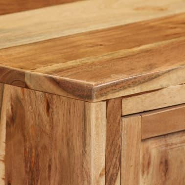 vidaXL Komoda, masyvi akacijos medienos, 60x35x76cm, ruda[4/16]