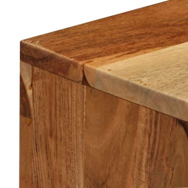 vidaXL Komoda, masyvi akacijos medienos, 60x35x76cm, ruda[9/16]