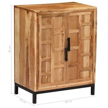 vidaXL Komoda, masyvi akacijos medienos, 60x35x76cm, ruda[10/16]
