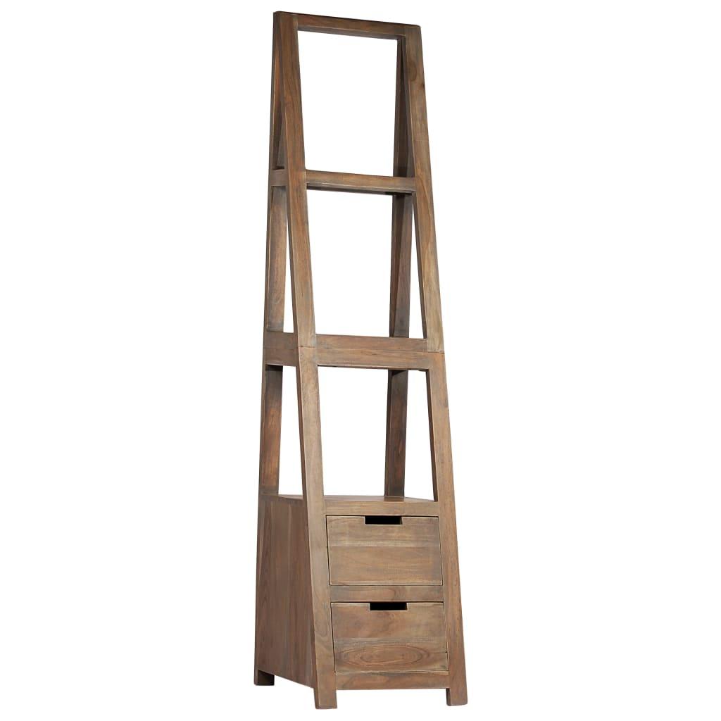 vidaXL Regał na książki, lite drewno akacjowe, 40x45x175 cm, szary