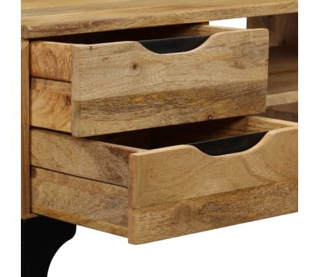 vidaXL Rašomasis stalas, mango medienos masyvas, 120x50x76cm[5/14]